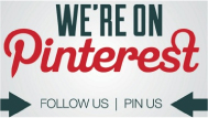 We're on Pinterest - Follow us / Pin us